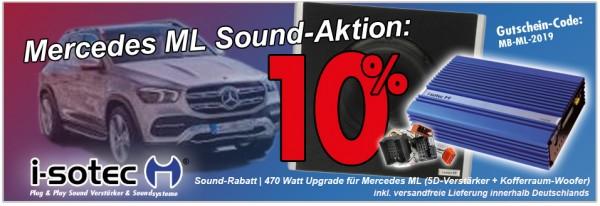Mercedes Sound-Aktion | 10% Rabatt auf i-soamp 5D Digital-Verstärker + Kofferraum-Woofer